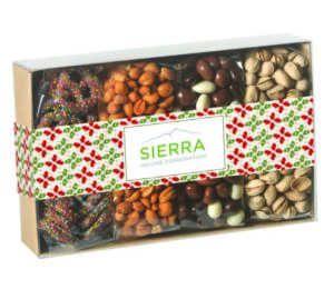 Custom packaged food end-of-year gift